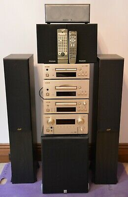 TEAC Hi-Fi High End Stereo System AG-H550, DV-H550, PD-500c, R-H500 + 6 Speakers