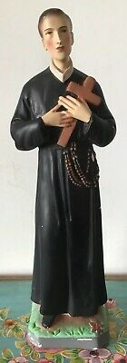 Lovely Vintage Religious Statue St Gerard Majella Made In Italy