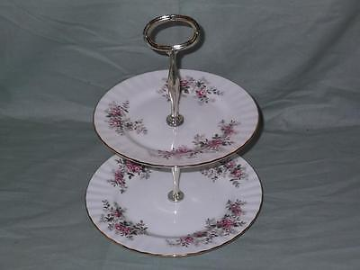 Royal Albert Lavender Rose 2-Tier Hostess Cake Plate Stand