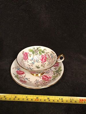 Vintage Royal Chelsea Bone China Tea Cup & Saucer~Butterfly~#4209