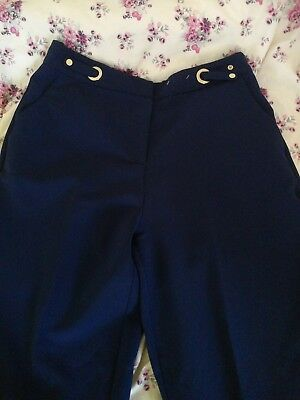Ladies navy Trousers Size 8 Girls Smart Trouser