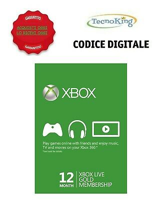 Abbonamento 12 Mesi Xbox Live Gold Xbox One 360 Italia Global