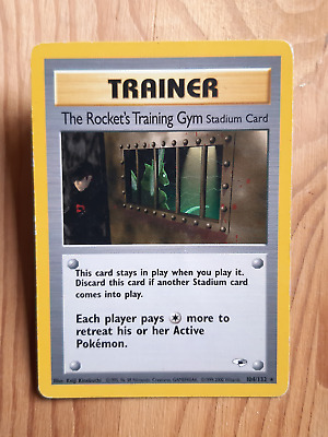 The Rocket's Training Gym  104/132 - RARA* – Gym Heroes (eng) - (a1043)