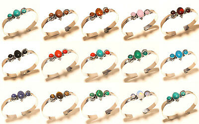 925 Silver Plated Gemstone Bangel Fashion Jewellery As Good Price