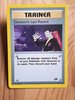 TRAINER Giovanni's last Resort  105/132 - RARA* – Gym Heroes (eng) - (a1046)