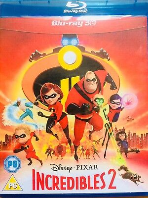 INCREDIBLES 2 -2018 blu-ray 3D REGION FREE