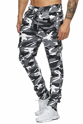 Men's Cargo Pants Camouflage Ribs Joggers Army Sweatpants Jog Trousers Chino