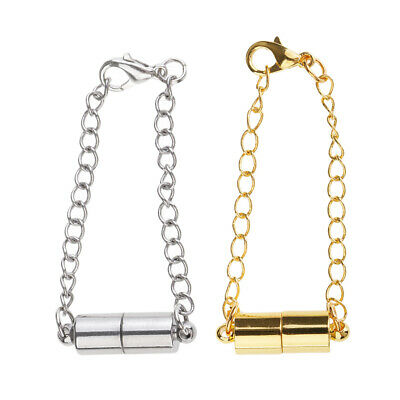 2Set Magnetic Lobster Clasp And Chain Extender for Jewelry Necklace Findings