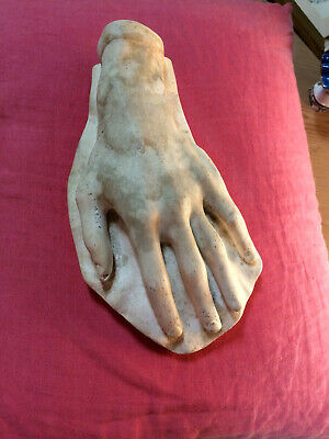 Rare 19th Century Antique Stamped Plaster Cast Of Chopin's Left Hand