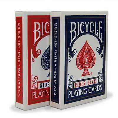 2 Decks Bicycle Rider Back Standard Index Playing Cards 1 Red/ 1Blue Free Ship