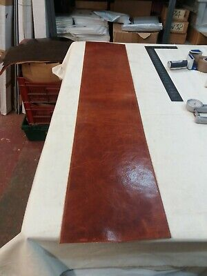 Tan- marked Leather HIDE panel 2.8-2.9mm thick REENACTMENTS CRAFTS  lot 90