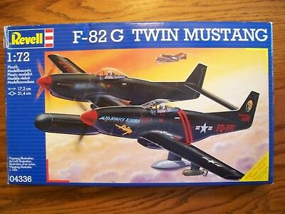 Revell 1/72 04336 F-82 G Twin Mustang Vintage WW2 Plastic Model Aircraft Kit HTF