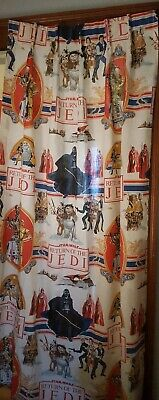 Star Wars VINTAGE Return of the Jedi Drapes 1 pair Fabric Arts and Crafts NICE