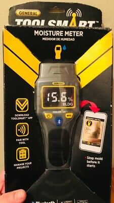 General Tools TS06 - ToolSmart BlueTooth Connected Digital Moisture Meter, Pin-T