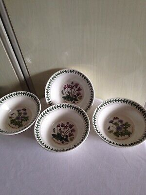 new 4x botanic garden Portmeirion Cereal Bowls 16.5cm oven to table