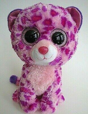 bd616ffcca3 Ty Beanie Boo Boos Glamour Pink Leopard 9