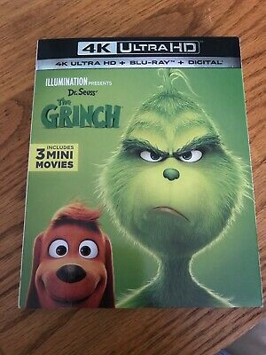 Dr Seuss How the Grinch Stole Christmas 4K Ultra HD NO DIGITAL Movie