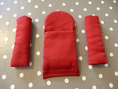 iCandy Peach 1 Tomato Red Harness Strap Pad Covers Full Set (Shoulder & Crotch)