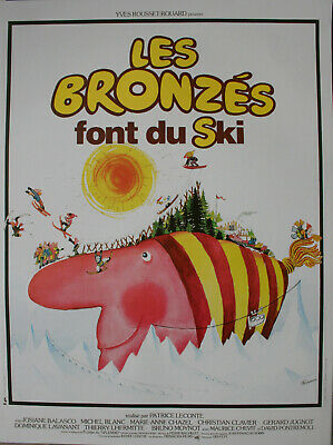 LES BRONZES FONT DU SKI Affiche cinema Originale ROULEE 53x40 Movie Poster R1990