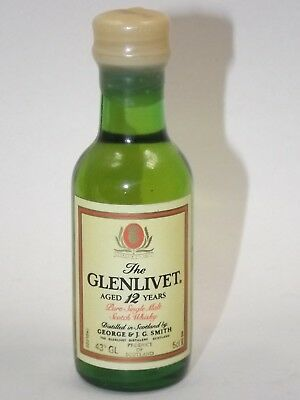 Whisky 12 years The Glenlivet  5 cl 43 % mini flasche bottle miniature Scotland