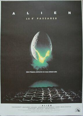 ALIEN LE 8ème Passager Affiche Cinema ROULEE 53x40 Movie Poster R1990