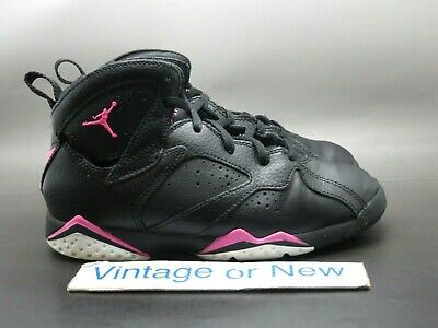 50f6ee5d4ef599 Girls Nike Air Jordan VII 7 Hyper Pink Retro 2017 GP Preschool 442961-018 sz