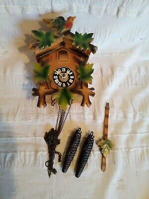Cuckoo Clock Vintage wooden new old stock in box complete