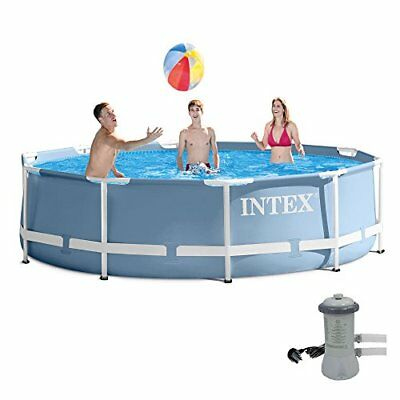 """Intex Frame Set Prism Rondo size 366 x 76cm 12ft x 30"""" swimming pool with filter"""