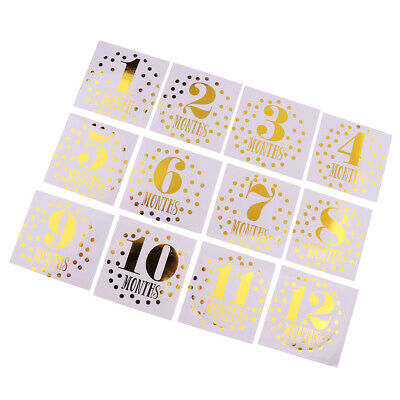 Baby Milestone Stickers Baby Monthly Stickers for Boys/Girls Months 1-12