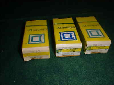 (3) NEW Square D Overload Relay Thermal Units # B9.10 (28610-A9)
