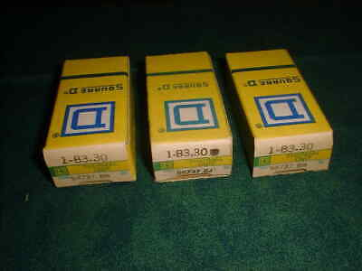 (3) NEW Square D Overload Relay Thermal Units # B3.30 (28611-A9)