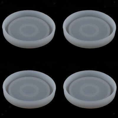 4Pcs round epoxy resin molds for diy coasters silicone jewelry making mould
