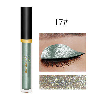 Sparkling Glitter Liquid Eyeliner Sexy Eye Party Wedding Makeup Colorful 17