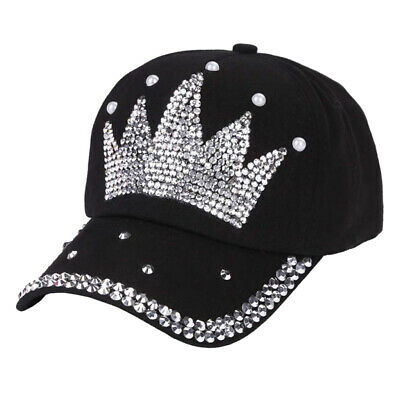 c5ab7a9ca59eb Women Crown Hats Cotton Casual Baseball Caps Hip Hop Snapback Visor Sun Cap