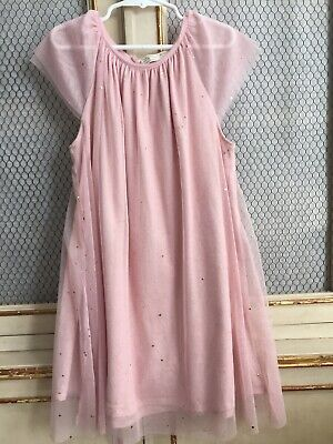ecd87dbba65 ZARA Cap Sleeve Pink Party Dress W Sparkles Sz 8 (crewcuts bonpoint)