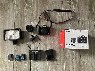 Canon EOS M50 24.1MP Mirrorless Camera Body with EF-M15-45mm