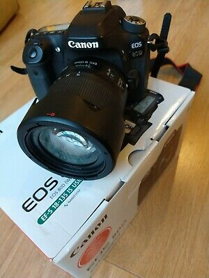 Canon EOS 80D 24.2MP Digital SLR Camera - Black (Kit w/ EF-S 18-135mm USM Lens)