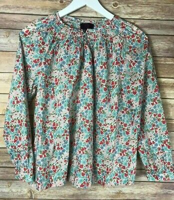 fefe2b1225440 J. CREW Womens  Liberty of London Floral Print Off the Shoulder Shirt Size 8