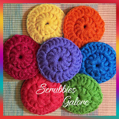 Crochet Nylon Net Dish Scrubbies Pot Scrubbers Kitchen Scrubby