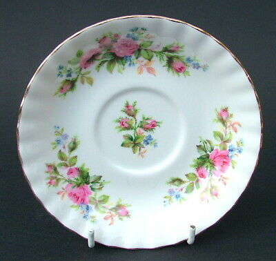 Royal Albert Moss Rose Pattern 1st Quality Tea Cup Saucer Only 14cm Look in VGC