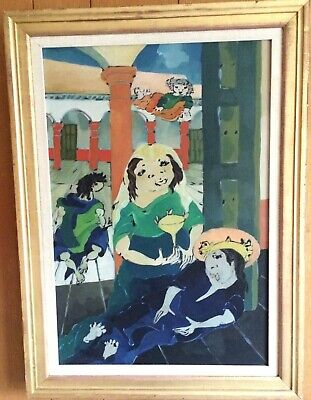 Surrealist Oil by Listed Dutch/American Artist  Cock Van Gent – Prices to $2000