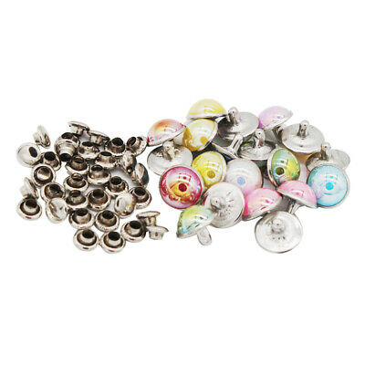 3mm Brass Mushroom Round Dome Rivets For DIY Doll Clothes Sewing Craft 50 Sets