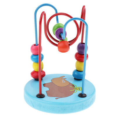 Developmental Baby Preschool Mini Around Beads Puzzles/Wooden Toy Kids Gift