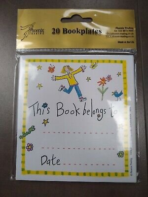 """Pack of 20 Phoenix """"This Book belongs to..."""" Bookplates Book Plates"""