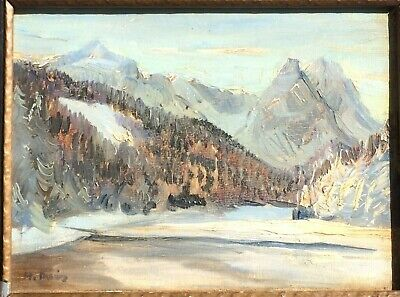 Outstanding Rocky Mtn Oil by Listed Canadian Artist RFM McInnis 1969