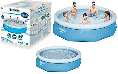 Bestway 10ft Fast Set Family Swimming Pool Outdoor Garden Pool