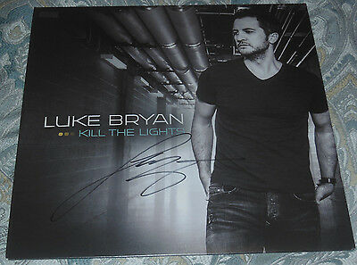 Luke Bryan SIGNED Kill the Lights Vinyl LP Record -Not What Makes You Country CD