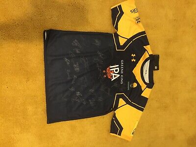 Worcester Warriors Signed Rugby Shirt LG - Large
