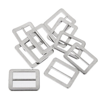 10pcs Metal Tri-glide Buckle Slider Leathercraft Bag Luggage Belt Buckles