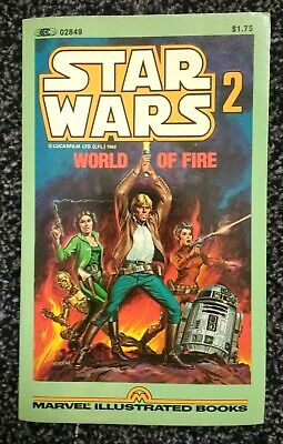"""Star Wars 2 """"World of Fire"""" 1982 1st Printing - Marvel Illustrated Book"""